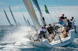 J/122 Artie sailing at start- Rolex Middle Sea Race