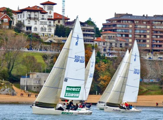 J/80s sailing off Santander, Spain