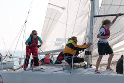 J/24 women's team sailing J/24 Worlds Germany