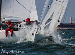 J/70 sailing upwind at Long Beach