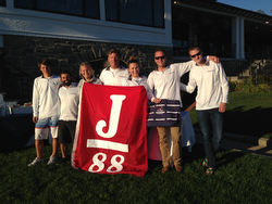 J/88 team sailing New Englands