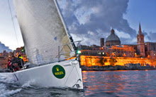 J/122 sailing off Malta