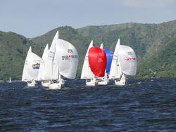 J/24s sailing Argentina- Lago San Roque