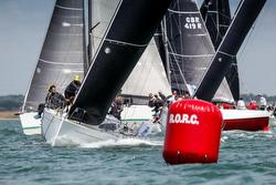 J/112E sailing fast upwind