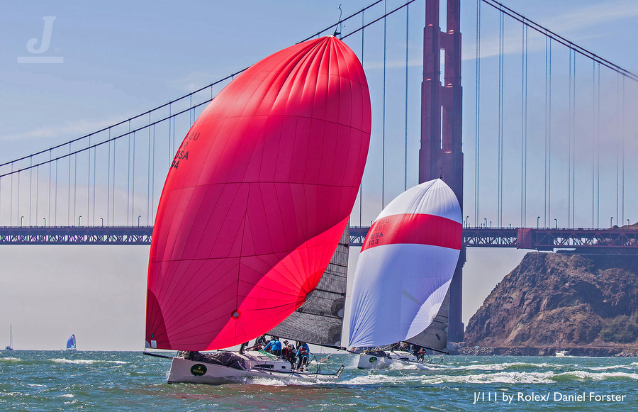 J/111's sailing San Francisco for Worlds