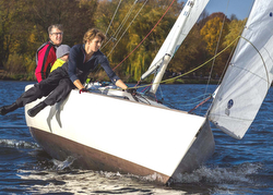 J/22s sailing on Lake Alster, Germany