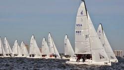 J/70s sailing Tampa Bay, FL