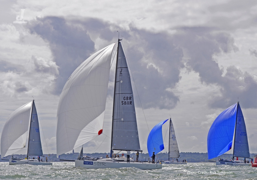 J/111 sailing World Championship off Cowes, England