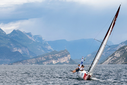 J/70 sailing on Lake Garda, Italy
