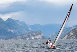 J/70 sailing on Lake Garda, Italy
