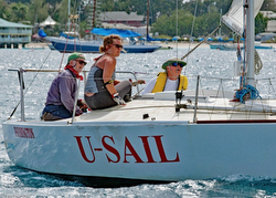 J/24s sailing Barbados