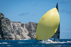 J/105 sailing off St Maarten in Heineken regatta