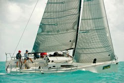 J/111 My Sharona sailing upwind off Key West, Florida