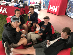 J/70 youth sailors chillin'