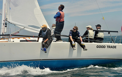 J/105 Good Trade sailing Block Island