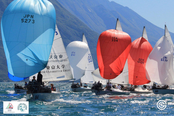 J/24s sailing on Lake Garda, Italy- Worlds