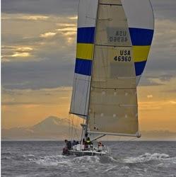 J/46 sailing Swiftsure off Seattle