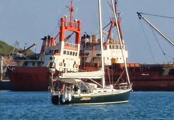 J/130 Shazam sailing Mediterranean