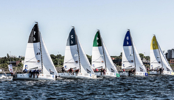 J/70 German sailing league start