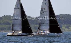 J/88 one-design sailing upwind