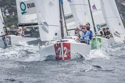 j/70 sailing off sardinia, italy