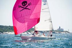 J/105 sailing Conanicut YC Round Island Race