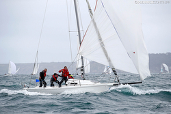 J/80 sailing downwind