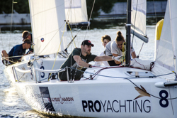 J/70's sailing summer series in Moscow, Russia