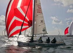 J/80 sailing off Lorient, France