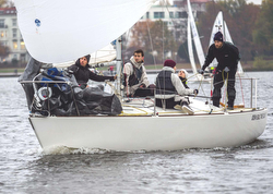 J/24s on Lake Alster, Germany