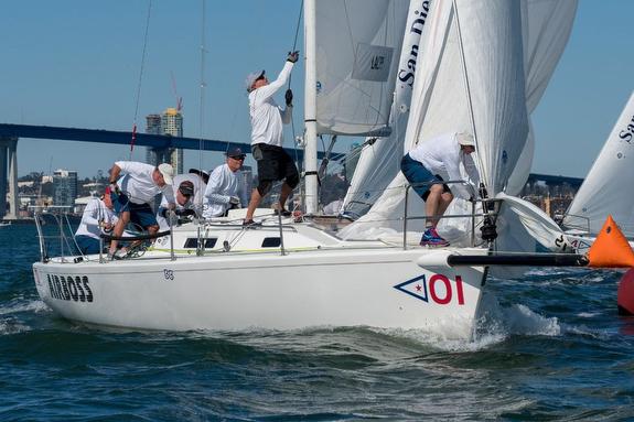J/105 sailing Masters Regatta off San Diego, CA