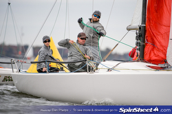 J/70 woman skipper- Jen Wulff sailing Annapolis Fall Brawl