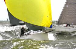 J/111 Joust sailing race off Melbourne, Australia
