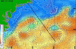 Bermuda Race rhumb and Gulf Stream meanders