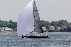 J/44 Kenai sailing fast with spinnaker