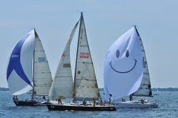 J/120s at starting line for Bayview Mackinac race