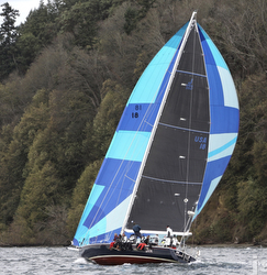 J/160 sailing Swiftsure Race