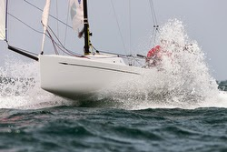 J/70 sailing off Sydney, Australia