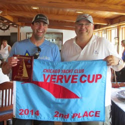 J/70 Aquaholiks team taking 2nd at Chicago Verve