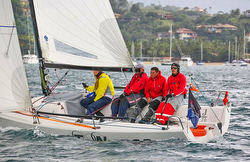 J/70 sailing Rolex Ilhabela Race Week off Brazil