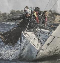 J/24 women's team- sailing Germany regatta