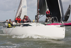 J/88 hot water action on Solent