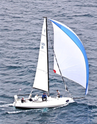J/88 sailing Chicago-Mac