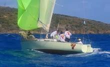 J/27 Mag 7 sailing off St Croix USVI