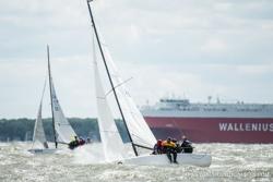 J/70s sailing Annapolis NOOD
