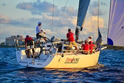 J/122 sailing Miami Nassau Cup Race