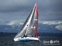 J/35 sailing off Seattle