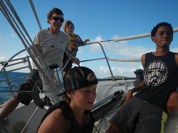 J/36 Paladin sailing with St Croix High School sailing team