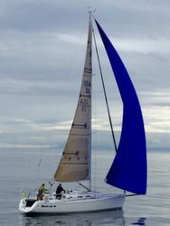 J/109 sailing Vic-Maui Race to Hawaii