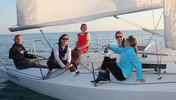 J/80 women's sailing team- Italy